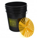 Work Stuff Black Bucket RINSE 20L HDPE wiadro + separator
