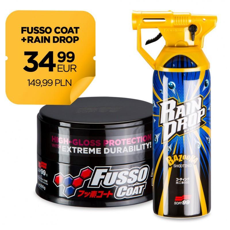 Zestaw Fusso Coat 12 Months Wax Dark + Rain Drop