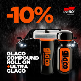 Soft99 Set Ultra Glaco + Glass Compound Roll On - zabezpieczenie szyb