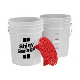 Shiny Garage Wiadro z Separatorem - naklejka Rinse