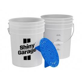 Shiny Garage Wiadro z Separatorem - naklejka Wheels