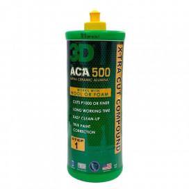 3D Car Care ACA 500 X-TRA Cut Compound 946ml - mocno ścierna pasta polerska