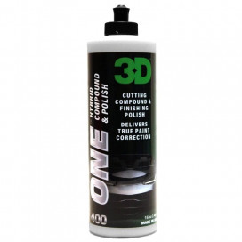 3D Car Care One Hybrid Compound & Polish 473ml - pasta one step