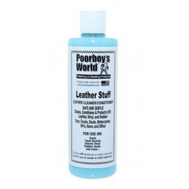 Poorboy's World Leather Stuff 473ml - Cleaner i odżywka do skóry