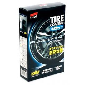 Soft99 Pure Shine Tire Coating 100ml - pielęgnacja opon, aplikatory w zestawie