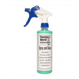 Poorboy's World Spray & Gloss 473ml - Quick Detailer